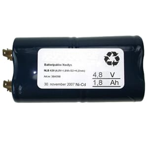 Batteripakke 4818-420, (4,8V - 1,8Ah - S2 - +-4,8mm)